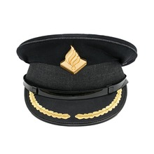 Black Military Uniform Dress Hats Embroidery Patches