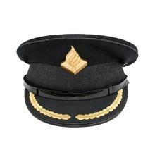 Черные нашивки с вышивкой на шляпах в военной форме