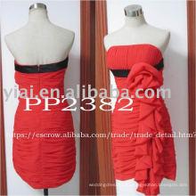 2011 коралловые короткие шифон вечернее платье PP2382