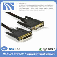 DVI 24+1 Cable 6FT 1.8M Nylon Net Male To Male For DVD LCD HDTV PC 1080P