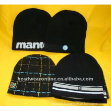 knitted bennie hats with printing logo
