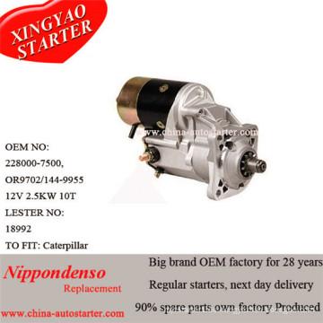 Motor de arranque de reducción de engranajes de 2.5kw para Caterpillar (228000-7500)