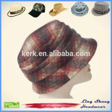 Nuevo estilo señora mujer lana mezcla sombrero sombrero sombrero