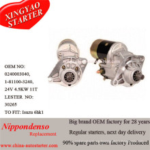 24V 4.5kw Cw Starter Fit para Isuzu 6he1 6hh1 Motores 4280000890