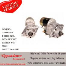 24V 4.5kw Cw Starter Fit для двигателей Isuzu 6he1 6hh1 4280000890
