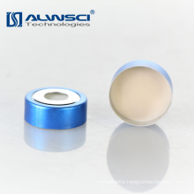 China manufacture aluminum crimp cap with silica gel 20x3mm