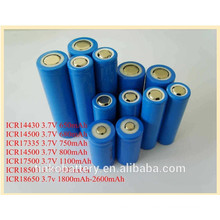 High quality ICR18650 3.7v battery in China factory