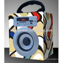 2017 portable wooden speakers/ portable usb mp3 player speakers