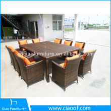 Cheap Factory Price 8 Seater Rattan Outdoor Furniture On Sale