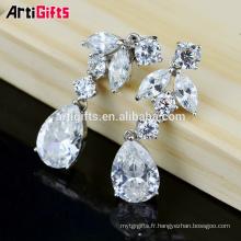 Parure de boucles d'oreilles design Cubic Zirconia Diamond