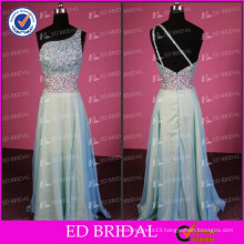 ED Bridal Sexy Real Picture A-line One-Shoulder Shinning Crystal Evening Dress 2017