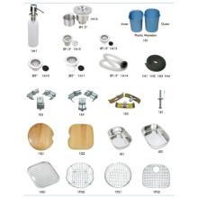 Escurridor de accesorios de fregadero de acero inoxidable y clips de fijación