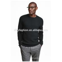 Moda masculina jaqueta jacquard suéter sólido camisola preta camisola preta