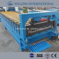 Máquina de formação de rolo de telhado ondulado