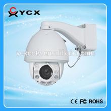 Zoom óptico 20X 2MegaPixel HD IP PTZ Dome, con distancia de infrarrojos 100-120m, cámara inalámbrica de cctv