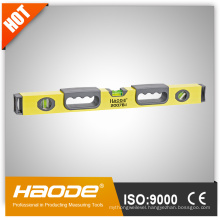 Heavy duty aluminium spirit level with magnetic strip