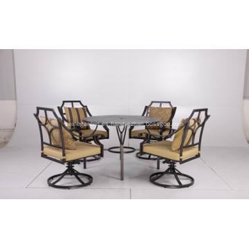 Molde exterior alum muebles 5pc set de comedor con cojines