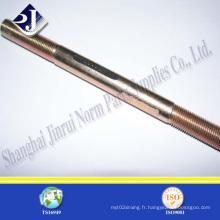Boulon à vis Z19 plaqué en acier inoxydable A193 B7