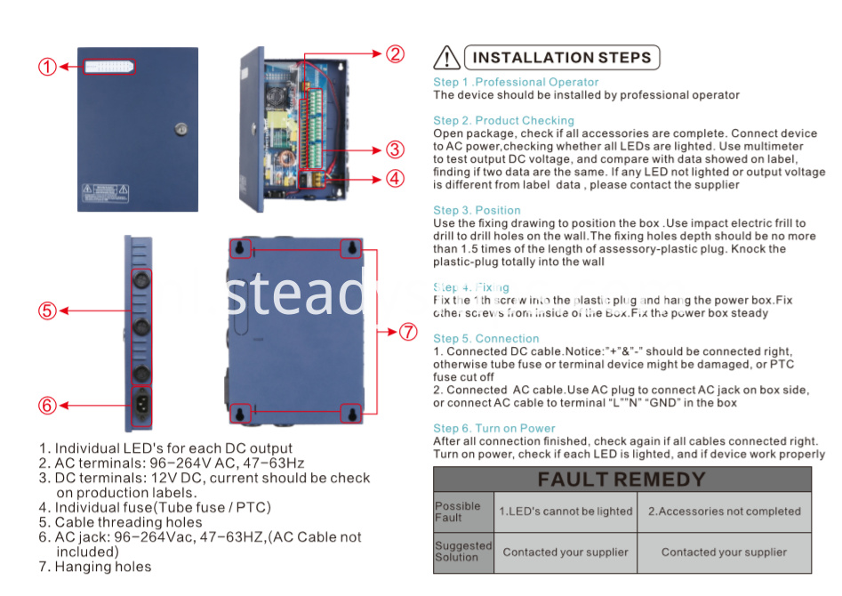power supply cctv