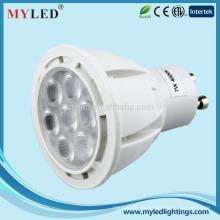 7w 3528 smd el diámetro 30m m gu10 llevó la luz GU10 MR16 85-265v 12v garantía de 2years