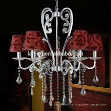 Dekoration Metallkunst Beleuchtung Gusseisen Kronleuchter Lampe Stoff