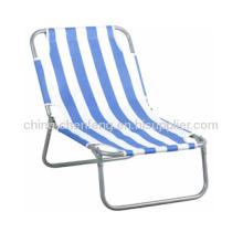 Strip Fabric Folding Beach Chairs