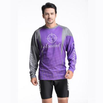 100% polyester T-shirt imprimé pour homme