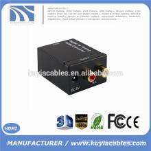 Adaptateur numérique coaxial Toslink analogique Adaptateur audio RCA L / R