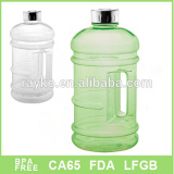 promotional big capacity colorful plastic water transparent bucket with handle and lid