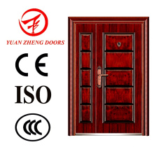 Wooden Color Steel Double Door