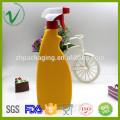 HDPE preço competitivo por atacado de qualidade superior OEM recipiente de detergente plástico quadrado personalizado com spray de gatilho