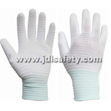 Carbon Fiber Anti-Static ESD Working Glove, Palm Coated with White PU (PC8110)