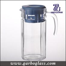1.4L Cold Water Glass Jug with Plastic Lid