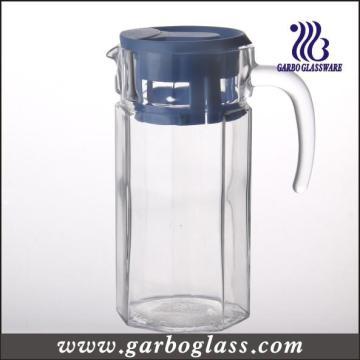 Jarro de vidrio de agua fría de 1.4L con tapa de plástico