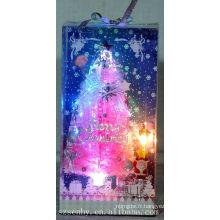 CHAUD! Arbre en fibre optique de Noël rose décoration d'alimentation