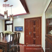 Деревянная панель Дизайн дверей Входная дверь Внешняя дверь Рынок Китая Новый стиль