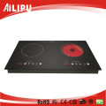 CB CE Approved Two Burners Built-in Induction mix Infrared Hob Sm-Dic12