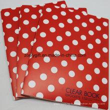 A4 Clear Book Pockets File Folder Holder Clear PP Document Bag