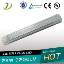 180 degree 22W LED 2G11 Tube light