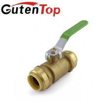 YuHuan alta calidad Push Fit montaje completo Bore válvula de bola de latón 1/2 '' 3/4 '' pulgadas LBA007 ajuste de latón Allibaba.com