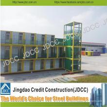 Construcción de viviendas de estructura de acero ligera modular de bajo costo