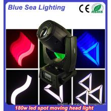 Luz do estágio luz do ponto do gobo conduziu a cabeça movente 180w