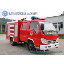 Foton Mini 4 * 2 1000L Water Tank Fire Fighting Truck