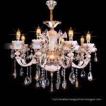 Italian Zinc Alloy Hotel Pendant lighting Home Decor Candle Crystal Chandelier 88637