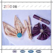 100% poliéster Tela Jacquard de lujo 45 * 45 cm servilletas de lino para el restaurante