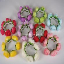 Garland Floral Headband Knot Hair Flower Bun (HEAD-104)