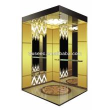 Titanium Passenger Mirror Finish Elevator