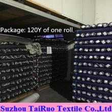 Tafetán 100% de poliéster para la tela de la guarnición de la ropa