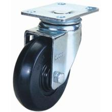 Medium Duty Swivel Rubber Caster (Black)