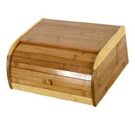Bamboo rolltop bread bin food storage box